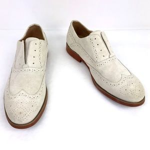 Florsheim Grey Suede Leather Wing Tip Oxford Shoes
